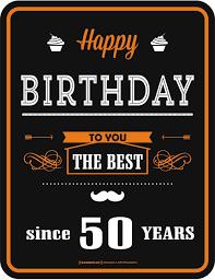 Blechschild Happy Birthday 50 Blechschild Schild Lustig Spruch