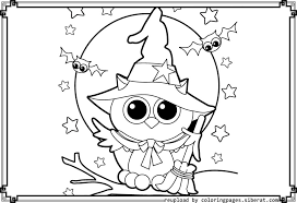 Small Picture Best Cute Halloween Owl Coloring Pages Gallery Coloring Page