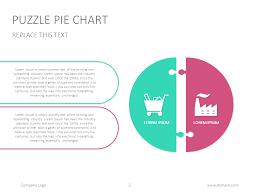 Pie Chart Lines Essentially Puzzle Pie Chart Presentation Slide Googleslide Chart