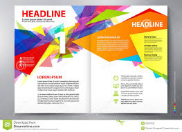 Flyer Template For Pages Brochure Design Two Pages A4 Vector Template Stock Vector
