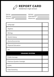 Customize 700 High School Report Card Templates Online Canva