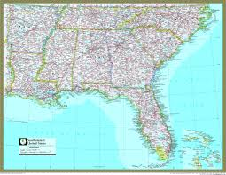 southeastern united states atlas wall map  mapscom
