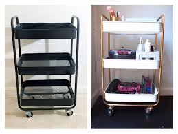 A while back I bought a metal storage cart from Target, which used for