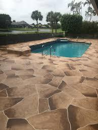 Decorative Concrete Overlay Decorative Concrete Patios Pools And Driveways Inc Boca Raton Fl