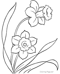 Small Picture Spring coloring page daffodils stitcheries
