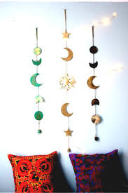 moon phases wall hanging decor best art crafts images on s beach boho bedroom diy