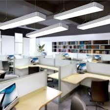 office chandeliers. Office Chandeliers Led Studio Meeting Room Restaurant Modern Simple Fillet Creative Rectangular Light Hanging Line Lights -in Pendant From N