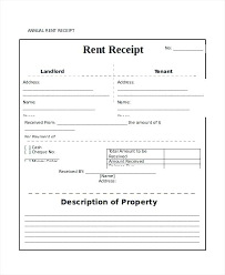 printable rent receipt template printable rent receipt annual rent receipt template in word blank