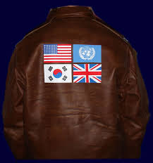 world war 2 leather flight jacket flags 48 star usa flag un flag
