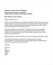 Reference Letter Template For Job Fresh Sample Employee Reference
