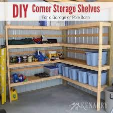Building Corner Shelves DIY Corner Shelves For Garage Or Pole Barn Storage 45