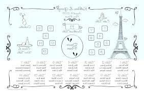 Wedding Ceremony Seating Chart Template Theme And Floor Plan