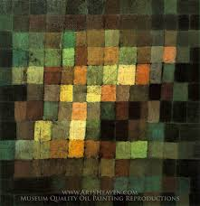 paul klee ancient sound abstract on black oil painting reion