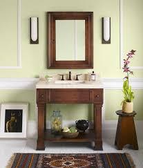 open bathroom vanities