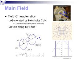 main field field characteristics generated by helmholtz coils