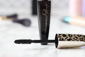 see a before and after using the new l oreal voluminous feline noir mascara
