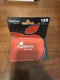 25 applebees gift card