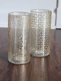 make stenciled glitter vases using mod podge rocks stencils