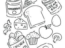 Healthy Foods Coloring Pages Coloring Pages Images Healthy Foods