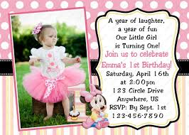 1st birthday invitation sle bday invitation card for 1 year orderecigsjuicefo