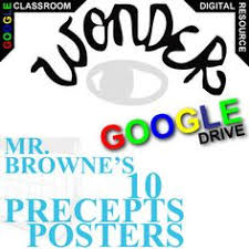 wonder mr browne s 10 precepts posters created for digital palacio novel