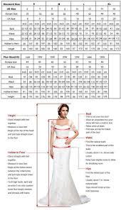 Wedding Dress Plus Size Chart Sizing Chart For Wedding Dresses Fashion Dresses
