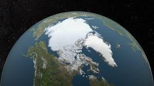 antarctic ice sheet growing svs annual arctic sea ice minimum 1979 2015 with area graph