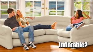 intex inflatable furniture. Intex Inflatable Sectional Sofa Seats More Than 3 People Comfortably - Looks Like A Real Furniture