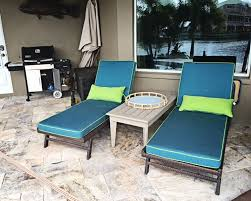 sunbrella custom chaise lounge cushions