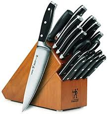 J.A. Henckels International Forged Premio 19-piece Knife Set with Cherry Block Amazon.com: