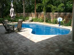 Swimming Pool:Small Backyard Pool Landscaping Ideas With Wooden Pallet  Fence And Brick Rock Pool