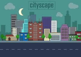 Urban Landscape Vector Illustration Download Free Vector Art