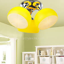 kids ceiling lighting. 3 Light Childrens Ceiling Lights For Yellow Shade With Decorations 16 Architecture Led Cloud Kids Lighting