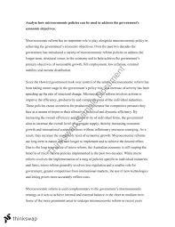 hsc economics microeconomic policies essay year hsc  hsc economics microeconomic policies essay