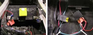 motorcycle power relay and distribution block canyon chasers motorcycle distribution block wires under the seat at the battery