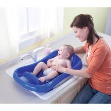 deluxe newborn to toddler tub blue baby bath tub w sling