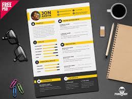 Resume Templates Free Download Creative Creative Resume Template Free Psd By Free Download Psd Dribbble