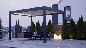Pavillon Lamellen Pergola 3195 X 350 Cm Anthrazit Bauhaus