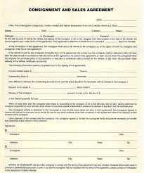 Sale Agreement Forms Consignment Sales Agreement Template Form Complete Report