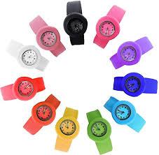 HSW Slap on Watch Silicone Quartz Number Fashion ... - Amazon.com