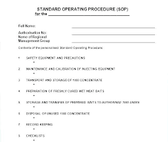 standard operating procedures template word standard operating procedure template word familyarchives co