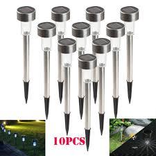 stainless steel outdoor solar led lights 10 pcs trendbaron com