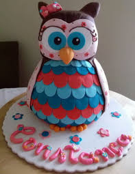 Owl 3d Cake Cookies And Cupcakes Cake By Gulodoces Cakesdecor