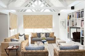beach living room decorating ideas. Beach-house-living-room-natural-flax-sofa-wicker- Beach Living Room Decorating Ideas