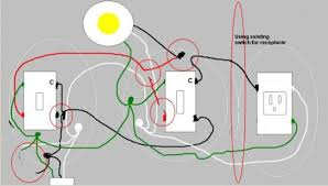 adding a switch single outlet to existing 3 way light 3 Way Switch With Outlet Diagram 3 Way Switch With Outlet Diagram #14 3-way switch with outlet diagram