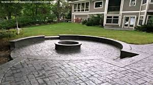 Concrete patio designs with fire pit Outdoor Stamped Concrete Patio Designs With Fire Pit Medtab Stamped Concrete Patio Designs With Fire Pit Youtube