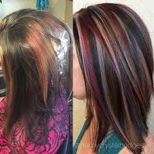 Blonde Red Brown Hair Color Chunky