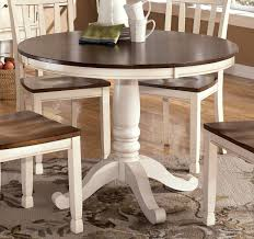 Round Pedestal Kitchen Table Brown Wooden Floor Brown Wooden Glass