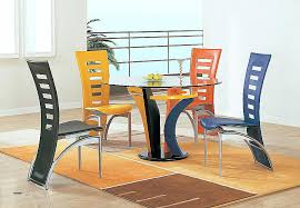 dining chairs set of 4 colorful modern dining chairs set 4 pieces and round glass
