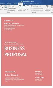 Proposal Cover Sheet Template 19 Sample Free Word Proposal Templates Formats In Word Excel
